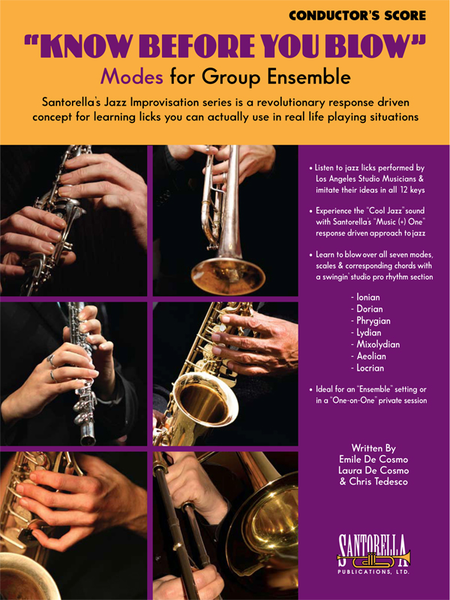 Know Before You Blow - Jazz Modes Conductor's Score with CD