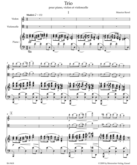 Trio for Piano, Violin and Violoncello