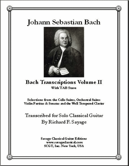 Select Transcriptions Volume II with TAB for Solo Classical Guitar