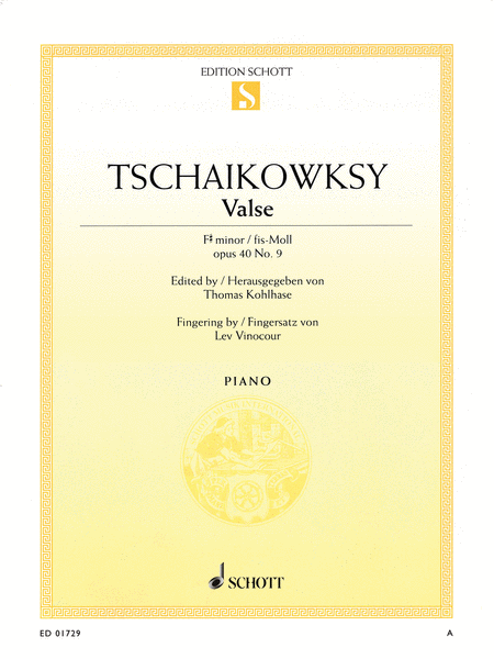 Valse in F-sharp minor, Op. 40, No. 9