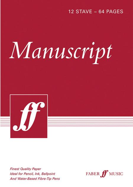 Manuscript Paper -- 12 Stave Full Size (8.5