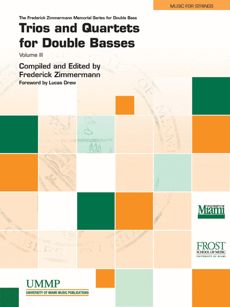 Trios and Quartets for Double Basses, Volume 3