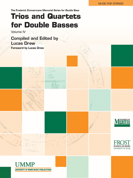 Trios and Quartets for Double Basses, Volume 4