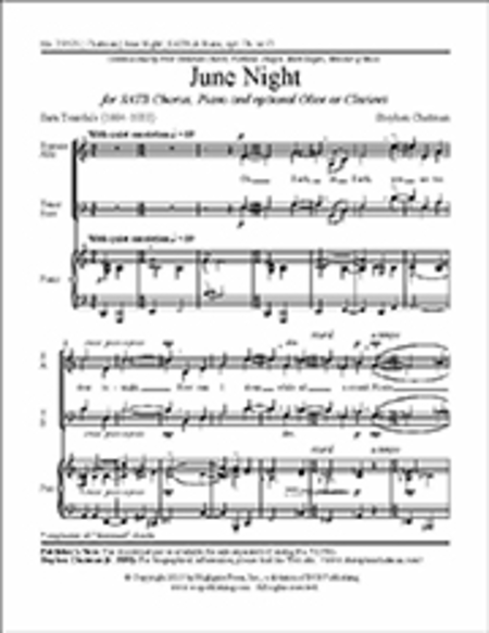 June Night (Choral Score)