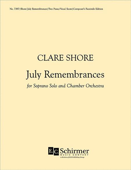 July Remembrances (Piano/vocal score)