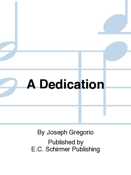A Dedication