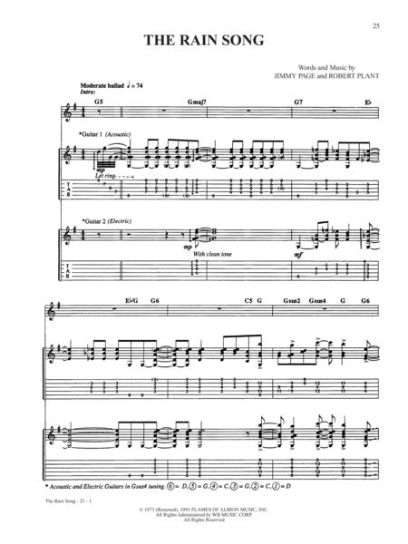 The Rain Song