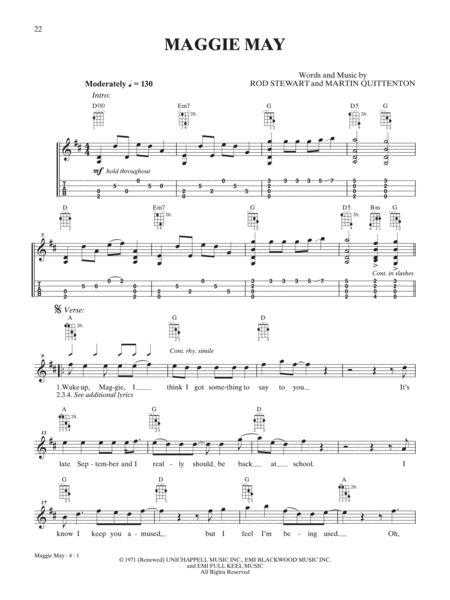 Mandolin mandolin tabs maggie may : Download Maggie May Sheet Music By Rod Stewart - Sheet Music Plus