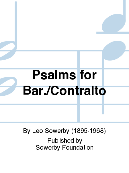 Psalms For Bar./Contralto