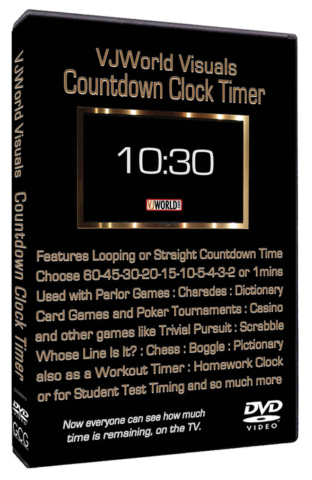 VJ World Visuals Countdown Clock Timer