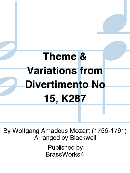 Theme & Variations from Divertimento No 15, K287