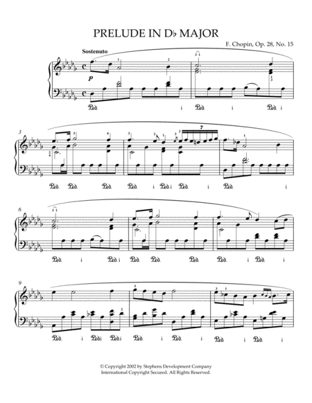 Prelude In Db Major, Op. 28, No. 15 (Raindrop)
