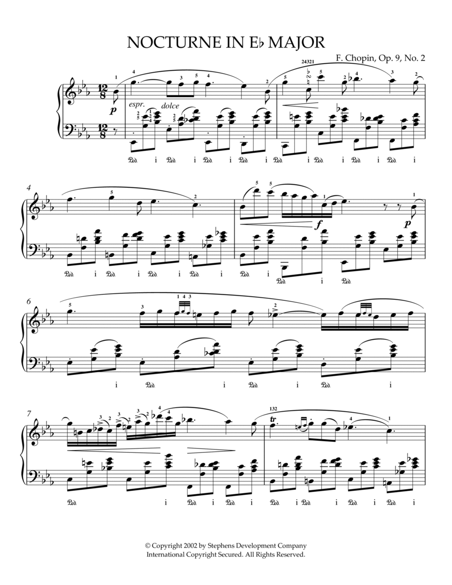 Nocturne In Eb Major, Op. 9, No. 2