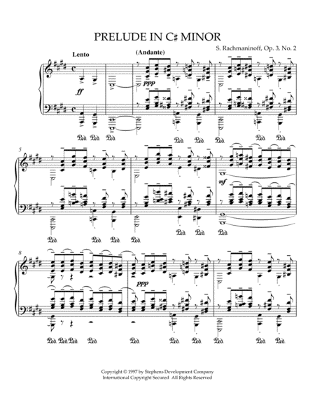 Prelude in C# Minor, Op. 3, No. 2