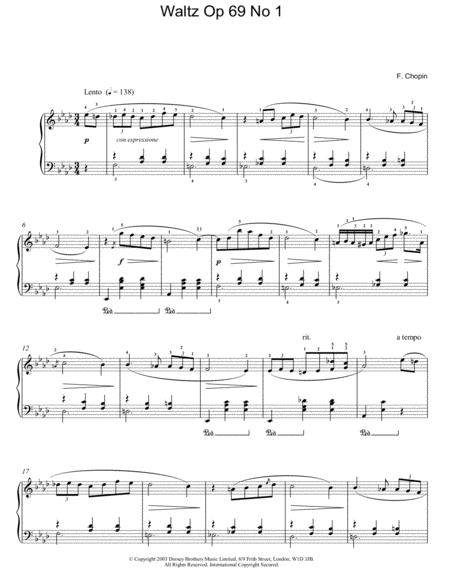 Waltz Op. 69, No. 1