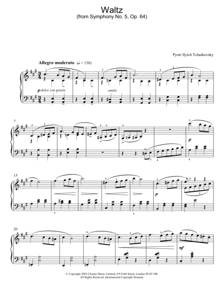 Waltz (from Symphony No. 5, Op. 64)
