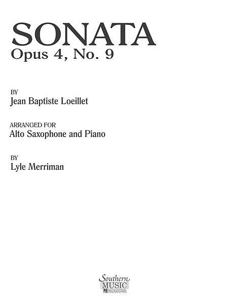 Sonata Op. 4 No. 9