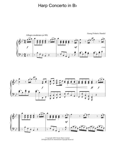 Harp Concerto In Bb