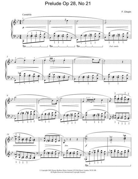 Prelude Op. 28, No. 21