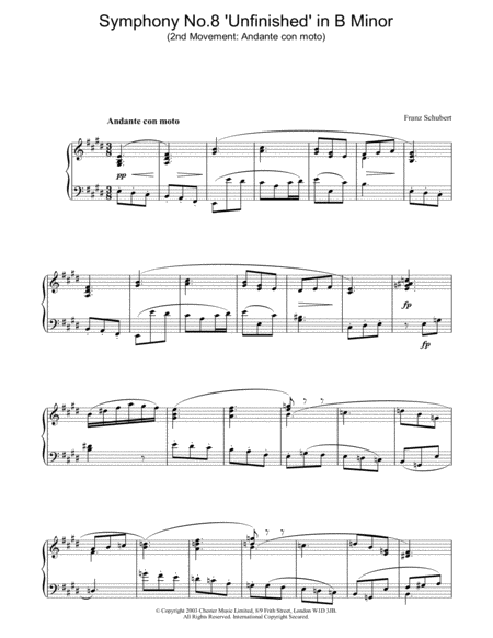 Symphony No.8 'Unfinished' in B Minor - 2nd Movement: Andante con moto