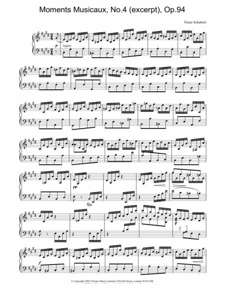 Moments Musicaux, No.4 (excerpt), Op.94