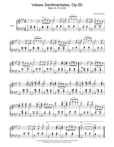 Valses Sentimentales, Op.50