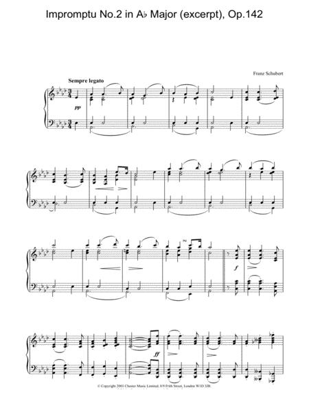 Impromptu No.2 in Ab Major (excerpt), Op.142