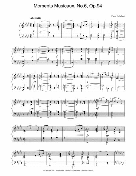 Moments Musicaux, No.6, Op.94