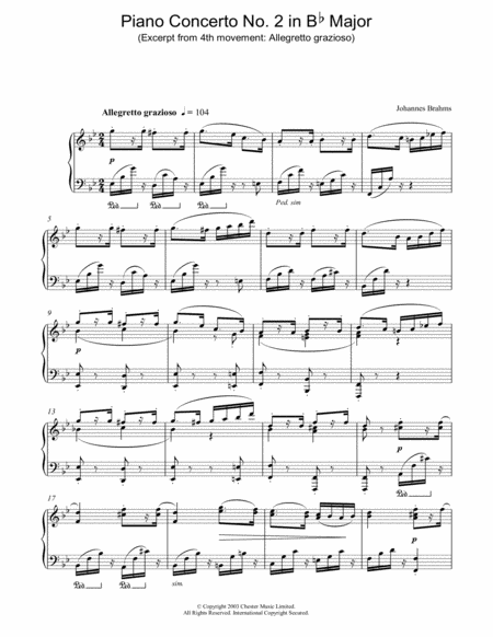 Piano Concerto No. 2 in Bb Major (Excerpt from 4th movement: Allegretto grazioso)