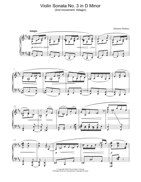 Violin Sonata No. 3 in D Minor (2nd movement: Adagio)