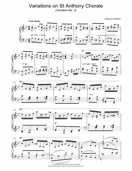 Variations on St Anthony Chorale (Variation No. 3)