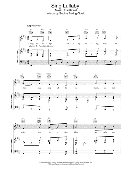 Sing Lullaby
