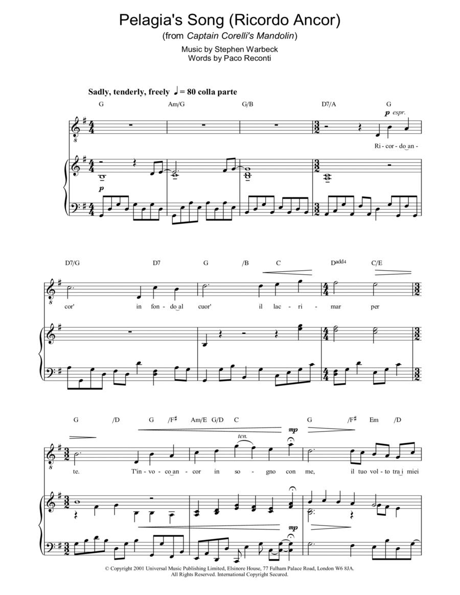 Pelagia's Song