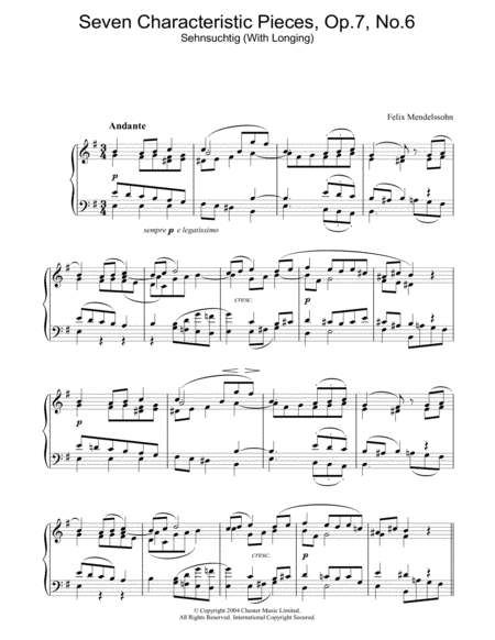 Seven Characteristic Pieces, Op.7, No.6