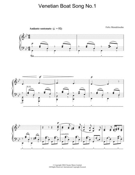 Venetian Boat Song No.1