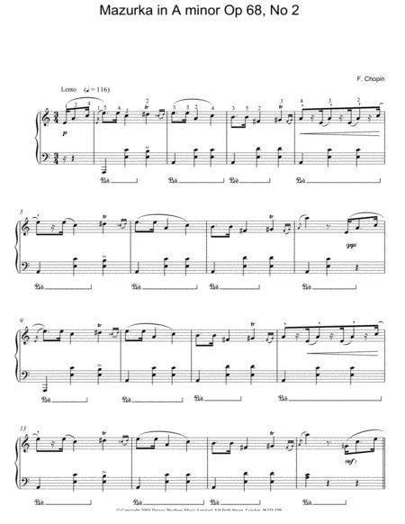 Mazurka In A Minor, Op. 68, No. 2