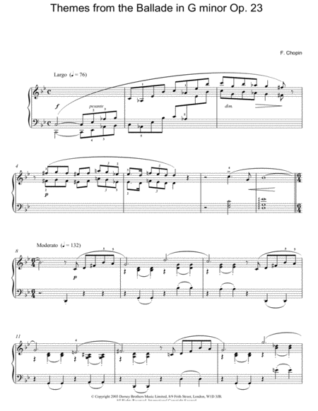 Themes From The Ballade In G Minor, Op. 23