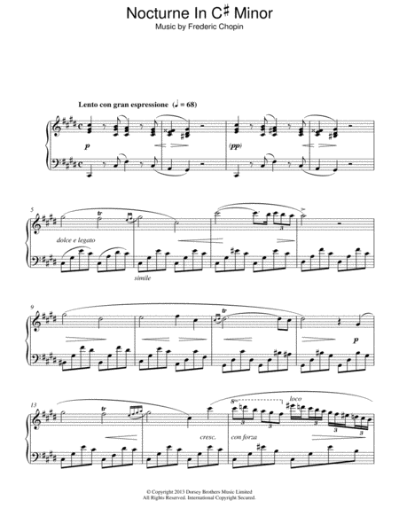 Nocturne In C# Minor
