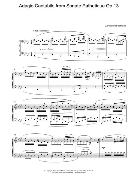 Adagio Cantabile from Sonate Pathetique Op 13