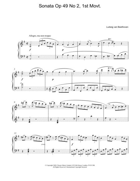 Sonata Op 49 No 2, 1st Movt.