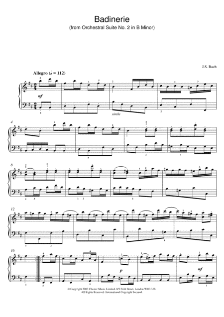 Badinerie (from Orchestral Suite No. 2 In B Minor)