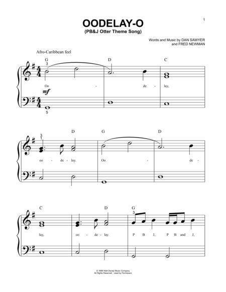 Oodelay-O (PB&J Otter Theme Song)