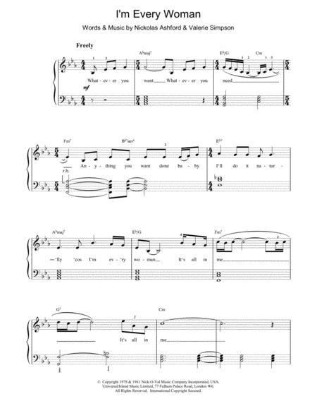 i m every woman sheet music pdf