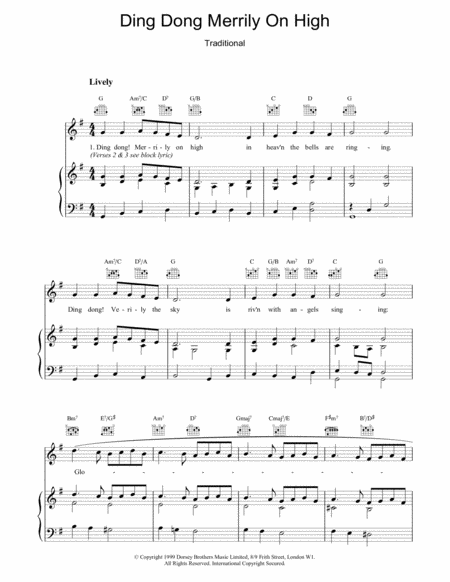 Download Ding Dong! Merrily On High! Sheet Music By French Carol - Sheet Music Plus