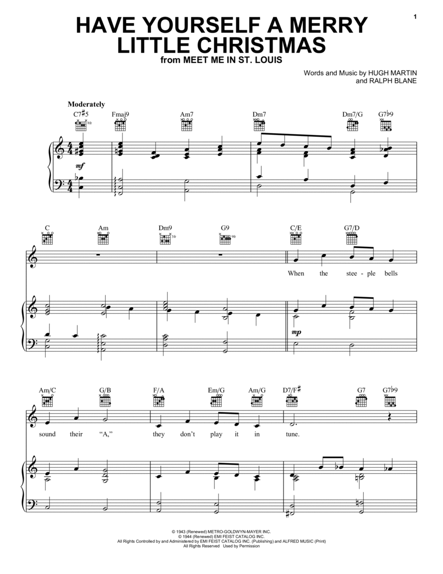 Download Have Yourself A Merry Little Christmas Sheet Music By ...