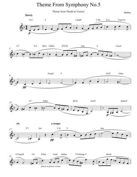 Theme From Symphony No. 5