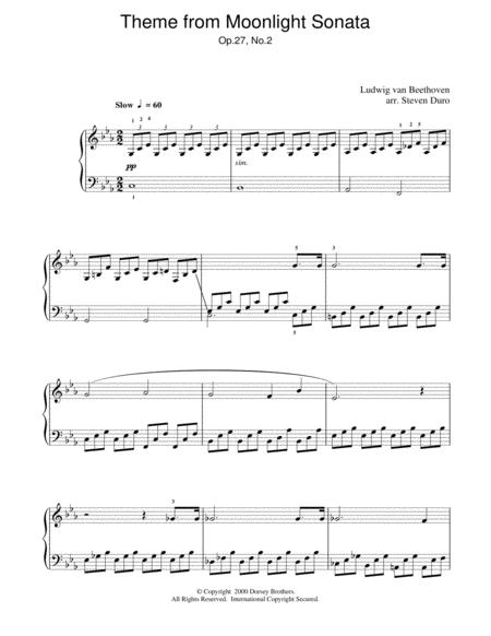 Piano Sonata No. 14 In C# Minor (