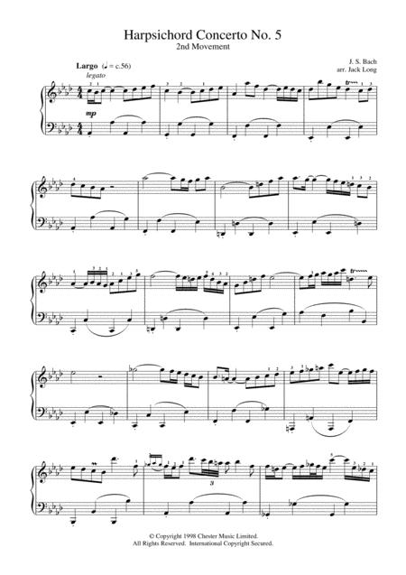 Harpsichord Concerto No. 5
