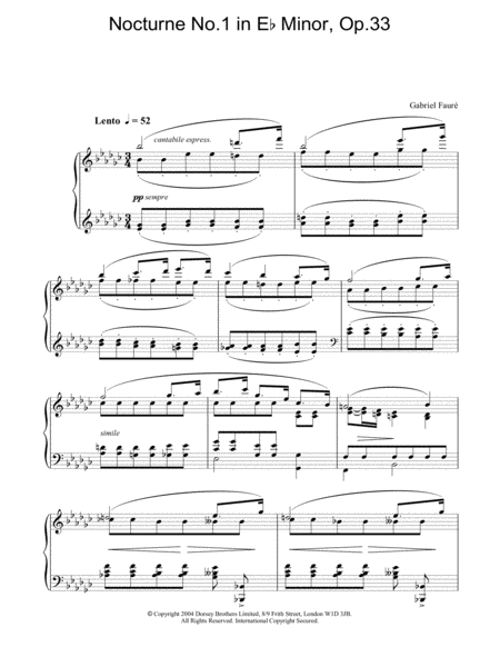 Nocturne No.1 in Eb Minor, Op.33