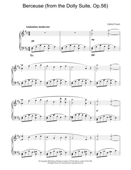Berceuse (from the Dolly Suite, Op.56)